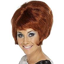 Smiffy's - Parrucca anni '60, Donna, colore: Rosso ramato, Taglia unica