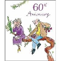 7335 Rabbits in Love Woodmansterne Anniversary Card - Quentin Blake