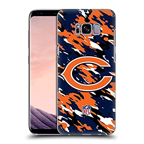 Official NFL Camou Chicago Bears Logo Hard Back Case for Samsung Galaxy S8