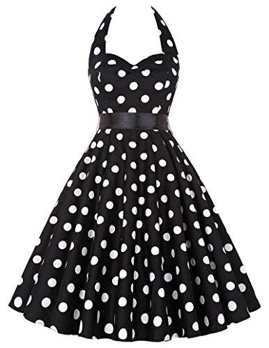 donne-1950-vintage-con-allacciatura-al-collo-di-polka-dots-dress-cotone-2xl-yf4599-1