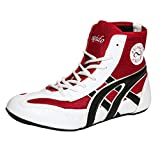 Excido Boys White, Red Synthetic Leather, Mesh Kabbadi Sport Shoes (ks01, Size: 34 Euro)