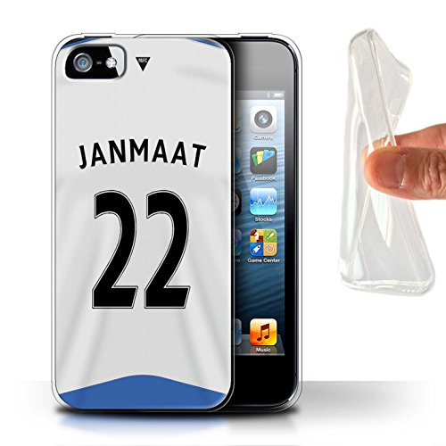 Offiziell Newcastle United FC Hülle / Gel TPU Case für Apple iPhone SE / Pack 29pcs Muster / NUFC Trikot Home 15/16 Kollektion Janmaat