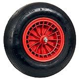 pro-bau-tec Ersatzrad für Garten und Bauschubkarre mit Montagematerial, rot, 10122