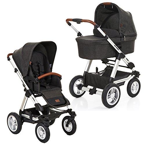ABC Design Viper 4 - Kombikinderwagen mit Lufträdern - Komplett-Set 2in1 - inkl. Babywanne &...