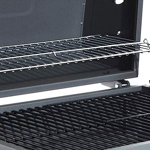 51IrhQWTioL. SS500  - HomeZone® Large Premium BBQ Charcoal Smoker - Portable Trolley Barrel - Adjustable Height Cooking Grill and Warming Shelf - Heat Resistant Black Steel Storage Shelf, Side Table