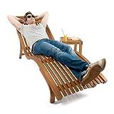 Sonnenliege Cannes   Gartenliege ergonomisch geschwungen   Relaxliege mit wählbarer Liegeposition   wetterfeste Gartenmöbel aus Holz