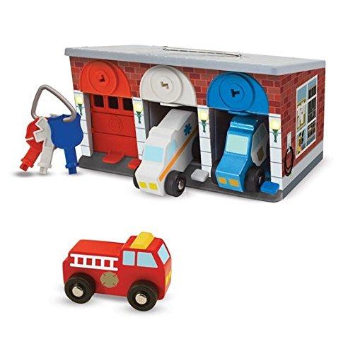 Garage mit Schlüsseln und Rettungsfahrzeugen (Dream Car Garage)