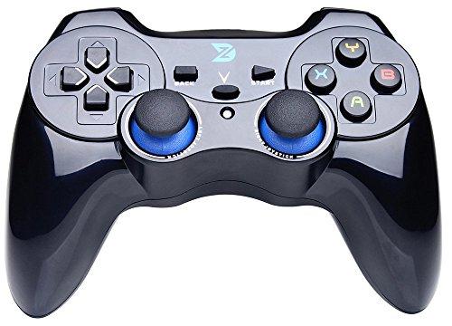 ZD V Volles Vibration-Feedback 2.4Ghz Wireless Controller Gamepad Gamecontroller Joystick für PC (Windows XP/7/8/8.1/10) & PlayStation 3 & Android&Steam - nicht unterstützen Xbox 360 / One
