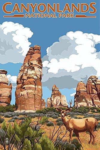 CANYONLANDS National Park, Utah–CHESLER und Hirsch, Papier, multi, 12 x 18 Art Print