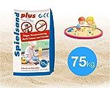 TK Gruppe Timo Klingler 75 kg Sand Spielsand für Sandkasten Kindersand Sandkastensand 0-0,2 mm Spielsand für Kinder (75 kg)