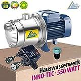HAUSWASSERWERK KREISELPUMPE HAUSWASSERAUTOMAT INNO-TEC 600 - mit DRUCKSCHALTER EU. Fertigung