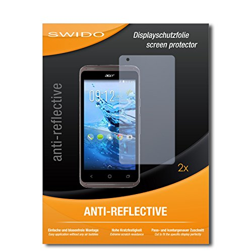 SWIDO Schutzfolie für Acer Liquid Z410 Plus [2 Stück] Anti-Reflex MATT Entspiegelnd, Hoher Härtegrad, Schutz vor Kratzer/Bildschirmschutz, Bildschirmschutzfolie, Panzerglas-Folie