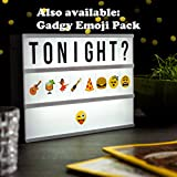 Lámpara estilo cartelera de cine o teatro - Pack emojis opcional
