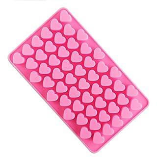 Autumn Love 18.5x11x1.2cm Pink Silikon Liebe Herzform Schimmel Schokoladenform auch für Kuchen, Fudge, Eiswürfel