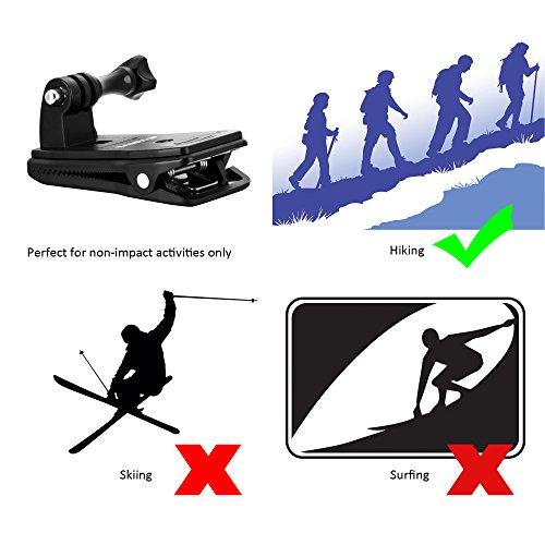 Sametop Backpack Strap Mount Quick Clip Mount for Gopro Hero 5, 4, Session, 3+, 3, 2, 1 Cameras