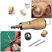Kit de herramientas de costura profesional para reparación de lienzos de piel, de madera,