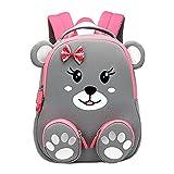 Cool&D Baby Rucksack Kindergarten Rucksack Cartoon Muster Schultasche Anti-Verloren Rucksack für Jungen und Mädchen 1-6 Jahre