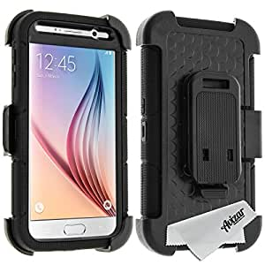 Avizar - Coque X-Shield Protection eXtrem + Clip ceinture - Samsung Galaxy S6 - Noir