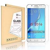 Didisky Panzerglas für Samsung galaxy J5 2016 Glasfolie Schutzfolie Panzerfolie, Hartglas 9H,Klar (Not für J5 2015)