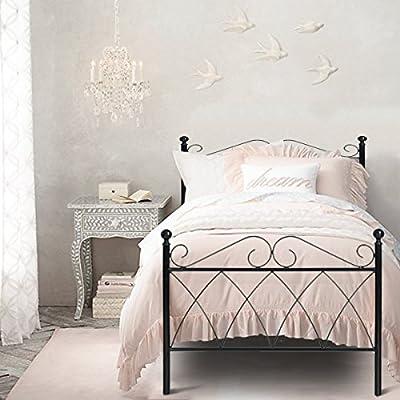 Aingoo Metal Bed Frame in Black - cheap UK light store.