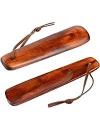 Calzador marítimas latón macizo con mango de madera 48 cm