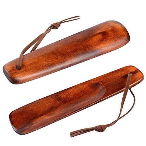 Soumit-2pz-Durevole-Gestito-Scarpe-Corno-155cm-Legno-Sollevatore-Scarpa-con-Corda-Antiscivolo-in-Pelle-Peso-Leggero-Superficie-Liscia-Robusto-e-Comodo
