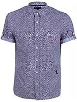 religion Men's Arcata Slim Fit Classic Short Sleeve Casual Shirt