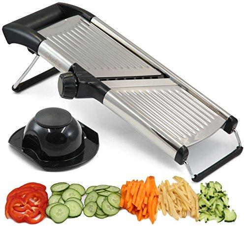 Mandolina ajustable por Chef 's INSPIRATIONS. Ideal para cortar alimentos, frutas y...