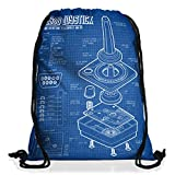 style3 2600 VCS Videoconsola Fotocalco Azul Bolsa mochila bolsos unisex gymsac 80s Joystick 8-Bit jugar clásicos