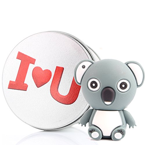 I love you chiavetta usb carina koala da pendrive memoria usb flash drive 2.0 memory stick, idee regalo originali, figurine 3d, archiviazione dati usb gadget 8 gb/16 gb/32g/64gb