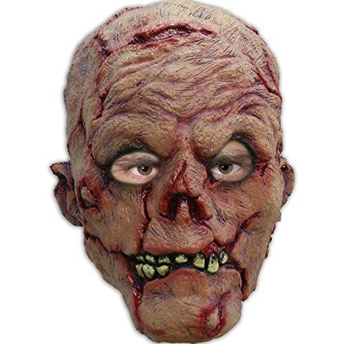 Partychimp 54-27240 Headmask - Zombie Burn/One-Size Party Maske, Multicolor, (Maske Zombie)
