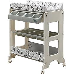 """IB-Style - Table à langer avec baignoireà roullettes - 11 décors différents - Matelas Commode Bébé Meuble  Modèle""""Butterfly"""""""