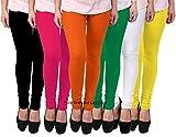 Pixie Women's Cotton Lycra Combo Of 6 Legging (Pclcombo6-6,Multicolor,Free Size)