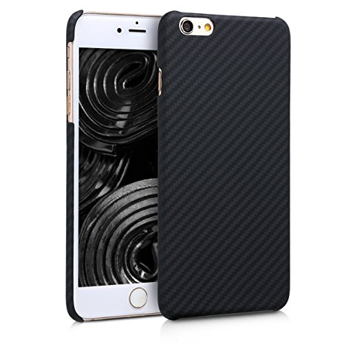 kalibri-Hlle-fr-Apple-iPhone-6-Plus6S-Plus-Handy-Schutzhlle-Backcover-Aramid-Cover-Schwarz-matt