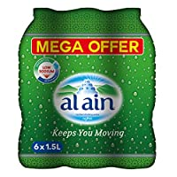 ‏‪Al Ain Bottled Drinking Water Mega offer Pack - 1.5 litres (Pack of 6)‬‏