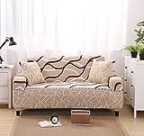 FORCHEER Sofabezug Elastischer Sofaüberwurf Blumen-Muster Sofa Cover Stretch Hussen für Sofa/Couch in Verschiedenen Größen ( 2-Sitzer, 145-185cm Muster #20 )