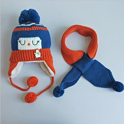 Plus Samt Hut Warme Hut Aviator Earflaps Warme Skifahren Snowboard Winter Hut Für Kinder Baby , Blue (Blue Aviator Hut)