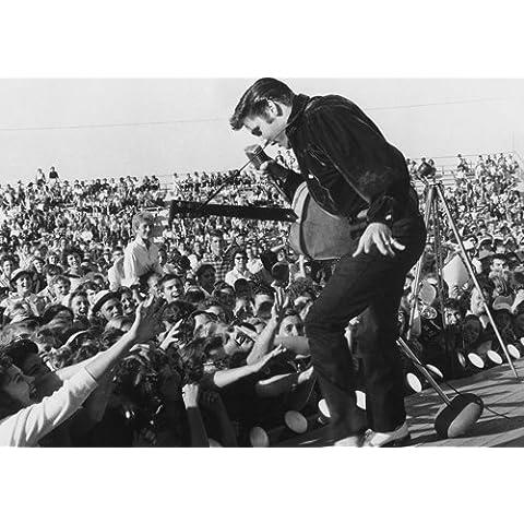 Elvis Presley 16 music legend icon-superstar, rock n roll-Poster formato A4