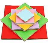 Origami Papier 600 Blätter Bastelpapier geschnittene Faltpapier 7 10 13 15 20 25cm doppelseite 10 färbige Bastelpapier Set für Origami und Bastelprojekte inkl Farben...