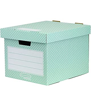 Bankers Box Style Standard Storage Box - Green/White, Pack of 4
