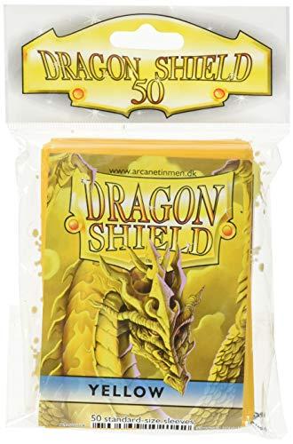 Arcane Tinman Dragon Shield Sleeves Kartenspiel, 50 Karat, Gelb (Dragon Shield Sleeves Green)