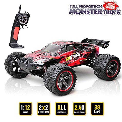 GoStock Remote Control Car 1:12 Scale 2WD 38km/h RC Off Road Truck RC Monster Truck Off-Road Vehicle 2.4Ghz Remote Control Buggy Car Radio Controlled Car