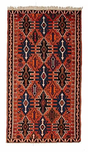 Nain Trading Kelim Soumak 340x193 Orientteppich Teppich Braun/Orange Handgeknüpft Russland -