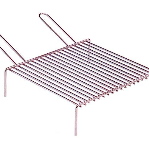 Graticola barbecue metalplast pesante con piedi 40x35 [metaplast]