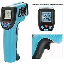 Zunate Termometro Infrarrojos Laser, Termómetro Digital de Infrarrojos sin Contacto GM550E Pantalla LCD -50
