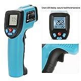 Zunate Thermometer,Digital Laser Infrarot Thermometer IR Pyrometer berührungslos Temperaturmessgerät Temperaturmesser mit LCD Beleuchtungkann -50 ° C bis 550 ° C (-58 ° F bis 1022 ° F) messen