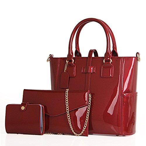 Meoaeo Tutti-Match Fashion Ladies Handbag Black gules