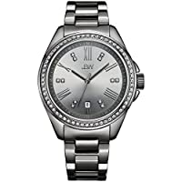 JBW Luxury Women's Capri 12 Diamonds Dial & Swarovski Crystal Bezel Watch - J6340E