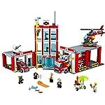 LEGO- City Caserma dei Pompieri Costruzioni Piccole Gioco Bambina Giocattolo, Colore Non specificato, 60110  LEGO