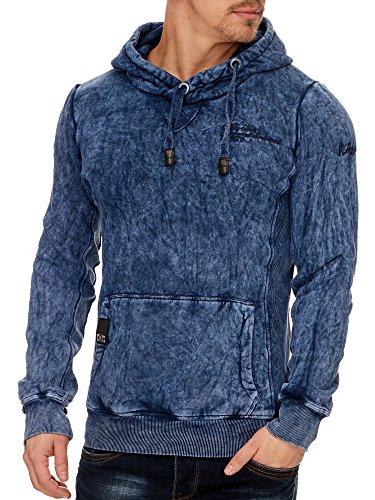 2fad3c28b100 TAZZIO Style Herren Kapuzenpullover Hoodie Sweatshirt mit Kapuze 14201 Blau